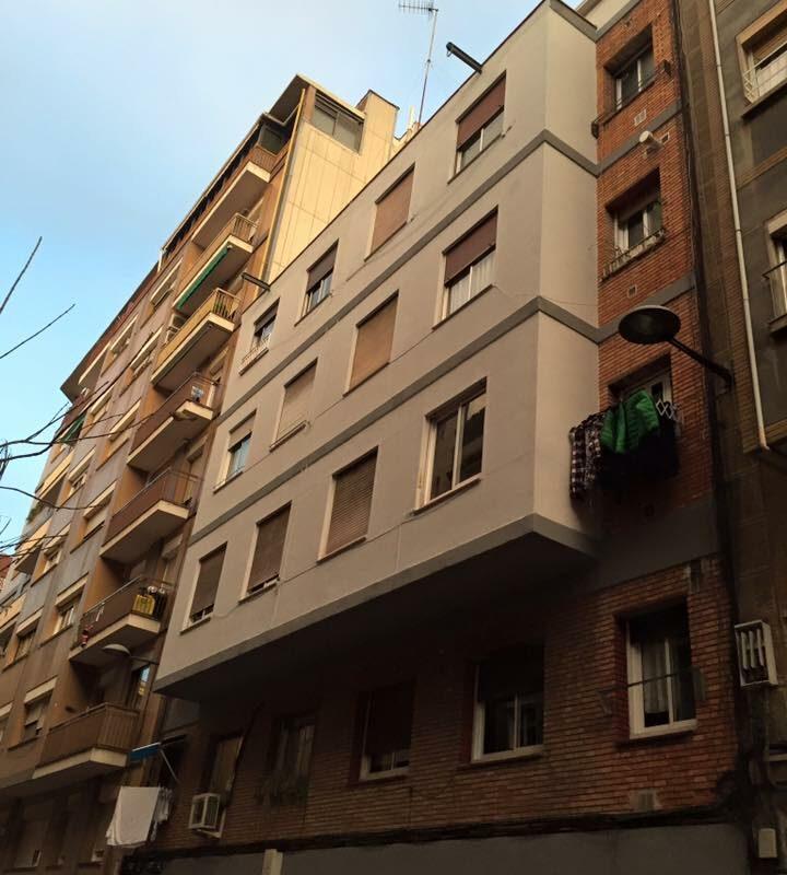 Rehabilitación de fachada en Hospitalet